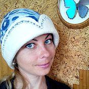 """Для дома и интерьера ручной работы. Ярмарка Мастеров - ручная работа Шапка для бани женская """"Гжель"""". Handmade."""