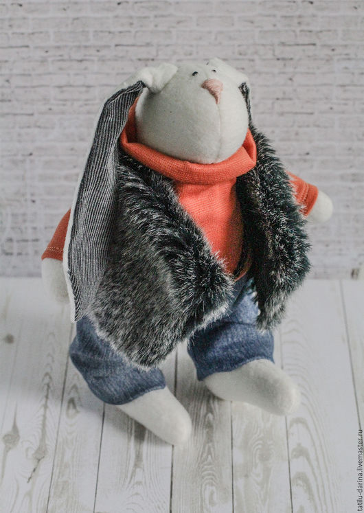 Куклы Тильды ручной работы. Ярмарка Мастеров - ручная работа. Купить Заяц-Волк. Handmade. Рыжий, заяц, заяц игрушка