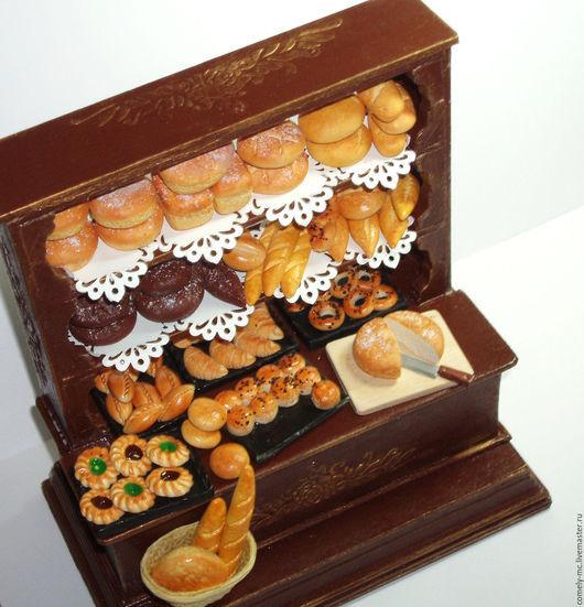 Кукольный дом ручной работы. Ярмарка Мастеров - ручная работа. Купить Хлебная лавка. Handmade. Кукольная миниатюра