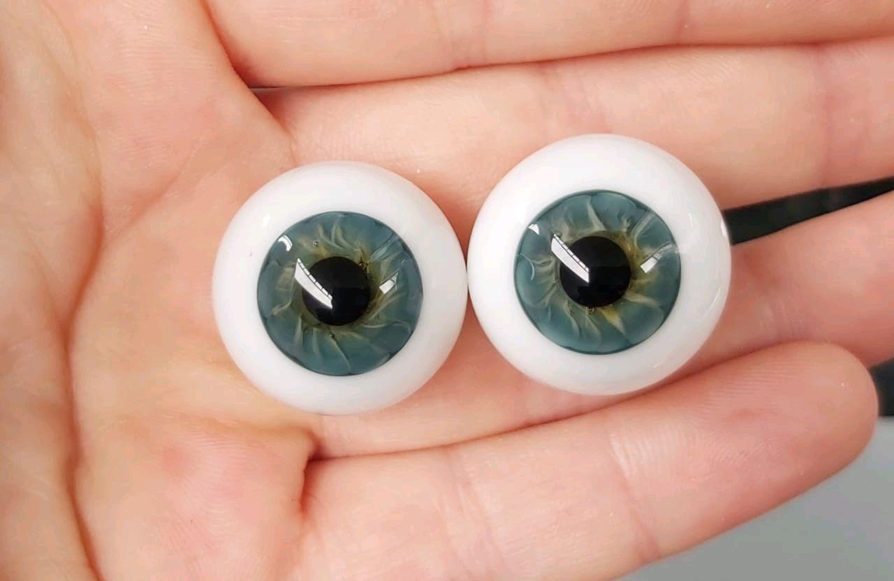 22 мм.#906  Глаза для кукол (стекло) Сфера, Аксессуары для кукол и игрушек, Минеральные Воды,  Фото №1