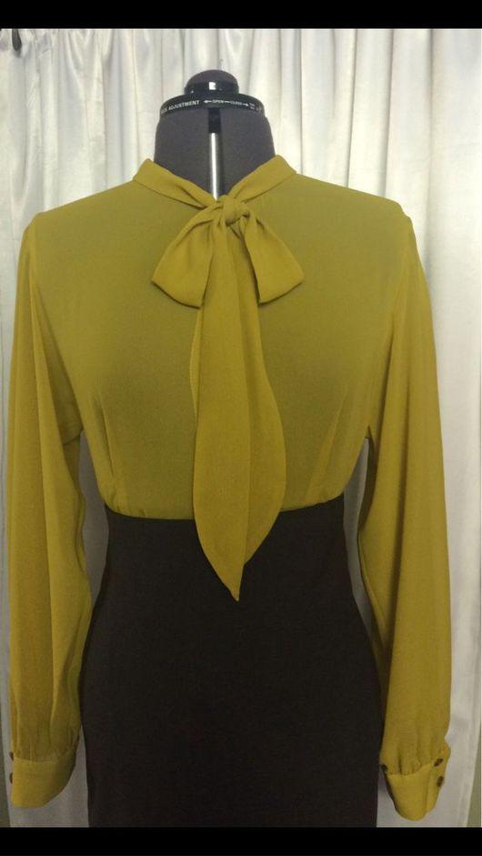 Блузки ручной работы. Ярмарка Мастеров - ручная работа. Купить Блузка с галстуком. Handmade. Блузка, блузка-туника, блузка на лето
