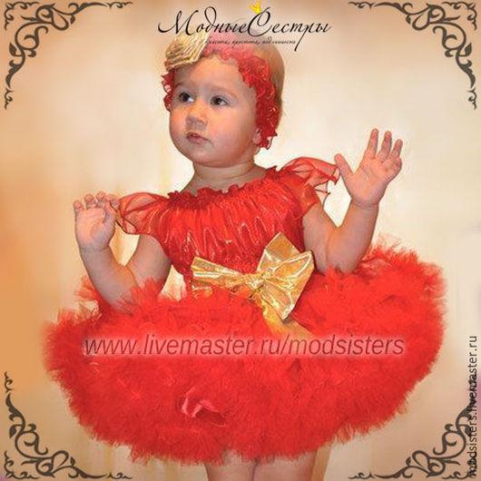 """Одежда для девочек, ручной работы. Ярмарка Мастеров - ручная работа. Купить Детское платье """"Красный карал"""" Арт.323. Handmade."""