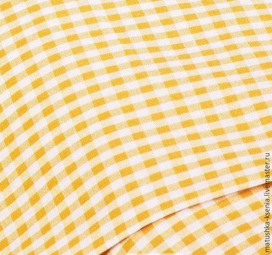 """Шитье ручной работы. Ярмарка Мастеров - ручная работа. Купить Ткань Германия """" Желтая клетка """" Новый год (Kat). Handmade."""