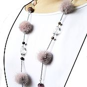Работы для детей, handmade. Livemaster - original item Powdery Pink Mink Beads. Handmade.