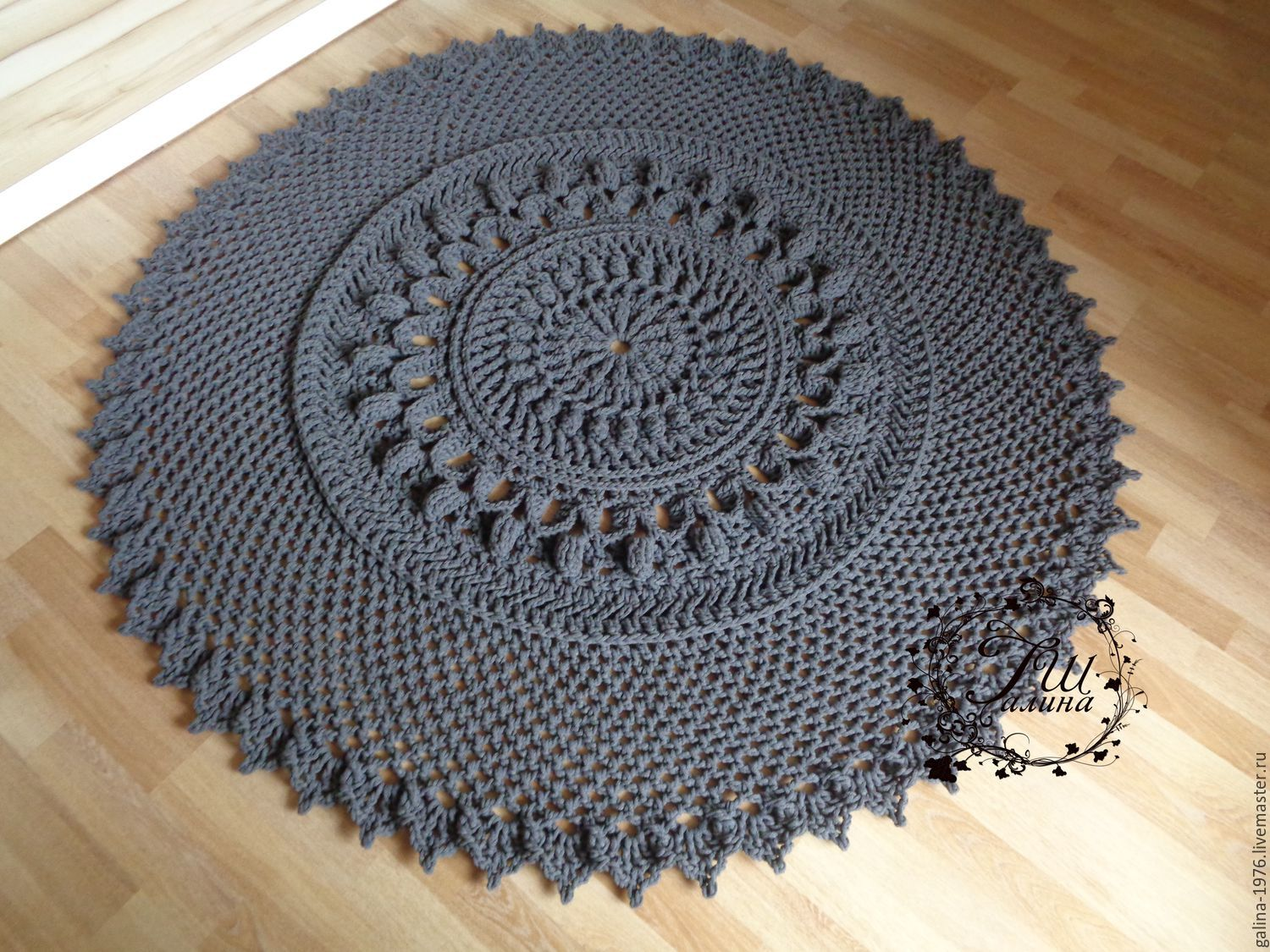 Cotton knitted carpet 'fortune', Carpets, Voronezh,  Фото №1