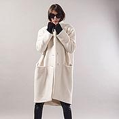 Одежда handmade. Livemaster - original item Oversize Coat/ Asymmetrical Coat/Wool cashmere Coat/ F1731. Handmade.
