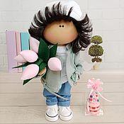 Тыквоголовка ручной работы. Ярмарка Мастеров - ручная работа Текстильная интерьерная кукла. Handmade.