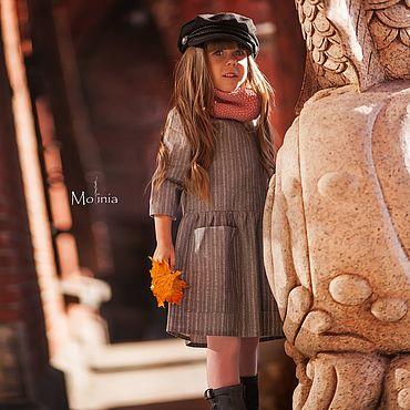 Товары для малышей ручной работы. Ярмарка Мастеров - ручная работа Платье для девочки льняное детское повседневное осеннее зимнее. Handmade.