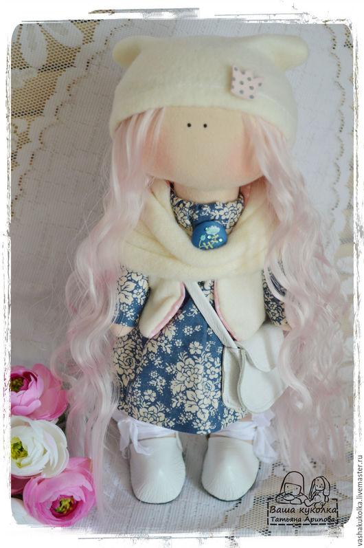 Куклы тыквоголовки ручной работы. Ярмарка Мастеров - ручная работа. Купить Текстильная куколка. Handmade. Синий, кукла интерьерная