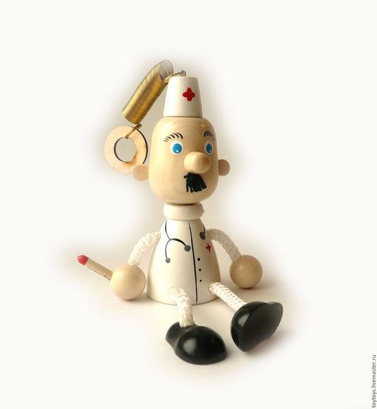 """Персональные подарки ручной работы. Ярмарка Мастеров - ручная работа. Купить Игрушка """"Доктор"""" на пружинке. Handmade. Игрушка для детей, игрушка"""