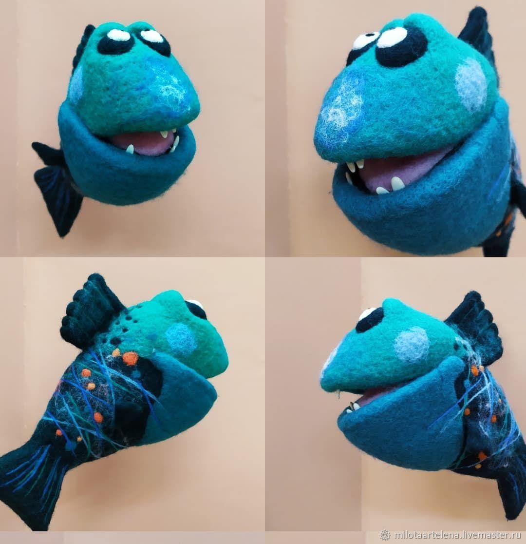 рыба - пиранья, Войлочная игрушка, Санкт-Петербург,  Фото №1