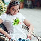 Одежда handmade. Livemaster - original item t-shirt: Women`s t-shirt Juicy Apple. Handmade.