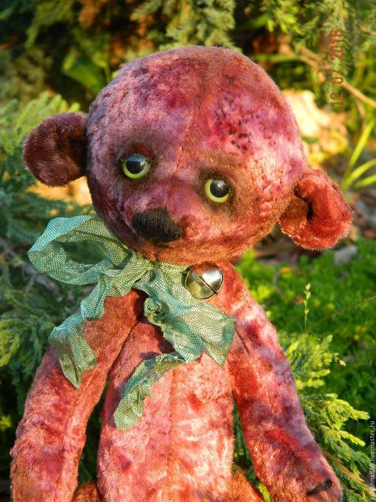 """Мишки Тедди ручной работы. Ярмарка Мастеров - ручная работа. Купить """"Фетька"""". Handmade. Бордовый, мишки, тедди медведи"""