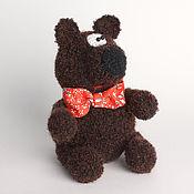 Куклы и игрушки ручной работы. Ярмарка Мастеров - ручная работа Медведь в галстуке-бабочка. Handmade.