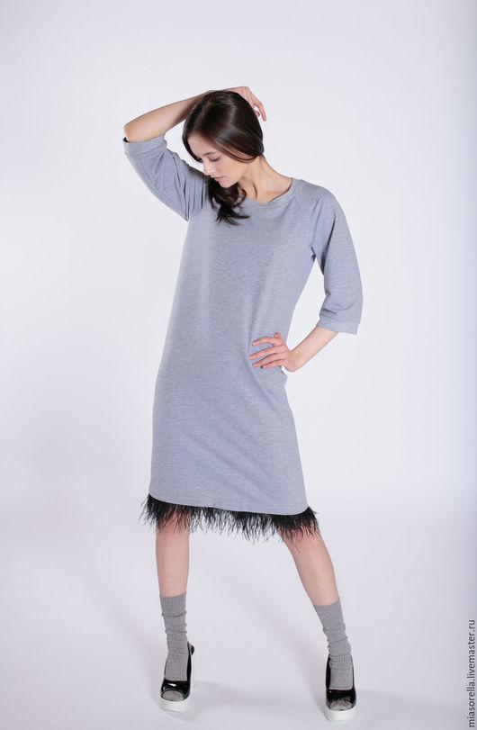 Платья ручной работы. Ярмарка Мастеров - ручная работа. Купить Платье трикотажное. Handmade. Однотонный