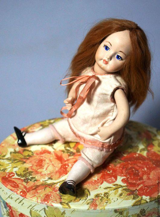 """Коллекционные куклы ручной работы. Ярмарка Мастеров - ручная работа. Купить Фарфоровая кукла """"Бон-Бон"""". Handmade. Бежевый"""
