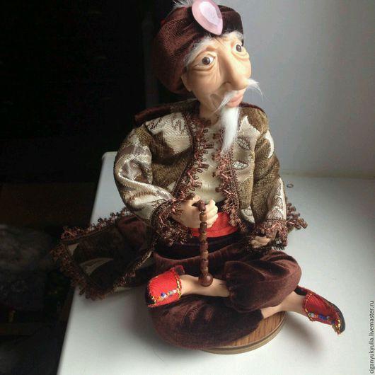 Коллекционные куклы ручной работы. Ярмарка Мастеров - ручная работа. Купить Хоттабыч. Handmade. Колдун, старик, султан, проволочный каркас
