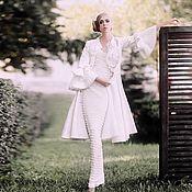 """Одежда ручной работы. Ярмарка Мастеров - ручная работа Пальто """"Анжелика"""" в белом цвете. Handmade."""