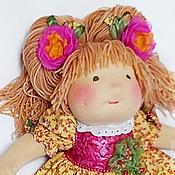 Куклы и игрушки ручной работы. Ярмарка Мастеров - ручная работа вальдорфская кукла с длинным волосами Цветик. Handmade.