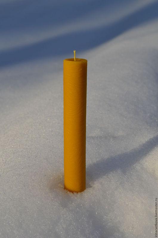 """Свечи ручной работы. Ярмарка Мастеров - ручная работа. Купить Восковая свеча """"Волна 16см"""" арт 22. Handmade. Воск"""