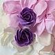 Заколки ручной работы. Шпильки для волос - фиолетовые розы из фоамирана. Татьяна Дерябина. Интернет-магазин Ярмарка Мастеров. Шпилька для волос