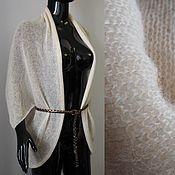 Одежда ручной работы. Ярмарка Мастеров - ручная работа Накидка-кардиган из кид-мохера. Handmade.