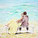 """Люди, ручной работы. Ярмарка Мастеров - ручная работа. Купить Картина """"Мятное море любви"""". Handmade. Мятный, картина акрилом"""