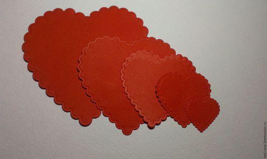 """Валентинки ручной работы. Ярмарка Мастеров - ручная работа. Купить Вырубка для скрапбукинга """"Сердце с волнистым краем"""", большой набор.. Handmade."""