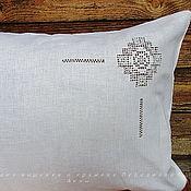 Для дома и интерьера handmade. Livemaster - original item 50/70 linen pillowcase with embroidery Ivanovo stitch. Handmade.