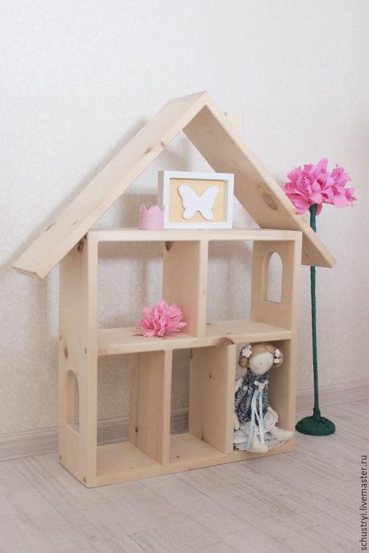 Детская ручной работы. Ярмарка Мастеров - ручная работа. Купить Детский деревянный домик из кедра Для Ксюши. Handmade. Белый