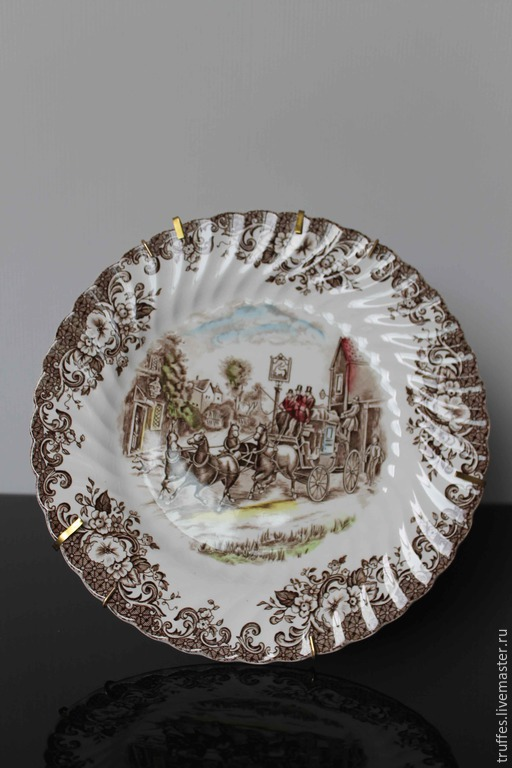 Винтажная посуда. Ярмарка Мастеров - ручная работа. Купить JohnsonBrothers, Англия, тарелка, Карета, декоративная тарелка, фарфор. Handmade. винтаж