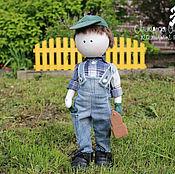 Текстильная кукла Мастер Вовка. Текстильная интерьерная кукла-мальчик
