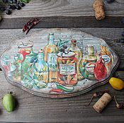 """Для дома и интерьера ручной работы. Ярмарка Мастеров - ручная работа """"Вкус Тосканы"""" сырная доска. Handmade."""