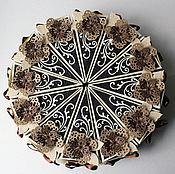 Подарки к праздникам ручной работы. Ярмарка Мастеров - ручная работа Торт с пожеланиями (мужской). Handmade.