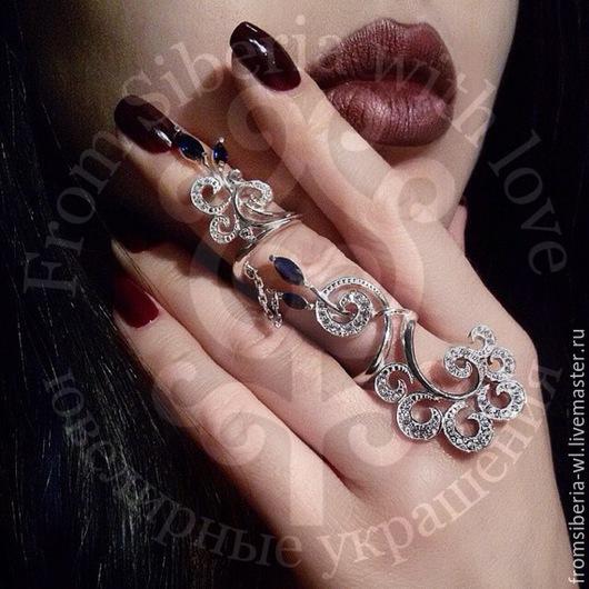 Кольца ручной работы. Ярмарка Мастеров - ручная работа. Купить Кольцо на весь палец. Handmade. Серебряное кольцо, full finger ring
