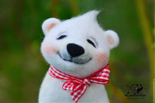 """Игрушки животные, ручной работы. Ярмарка Мастеров - ручная работа. Купить Интерьерная игрушка"""" Медвежонок Умка"""". Handmade. Мишка, зима"""