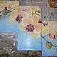 Картины цветов ручной работы. Ярмарка Мастеров - ручная работа. Купить Орхидеи над водой. Handmade. Бледно-розовый, орхидея