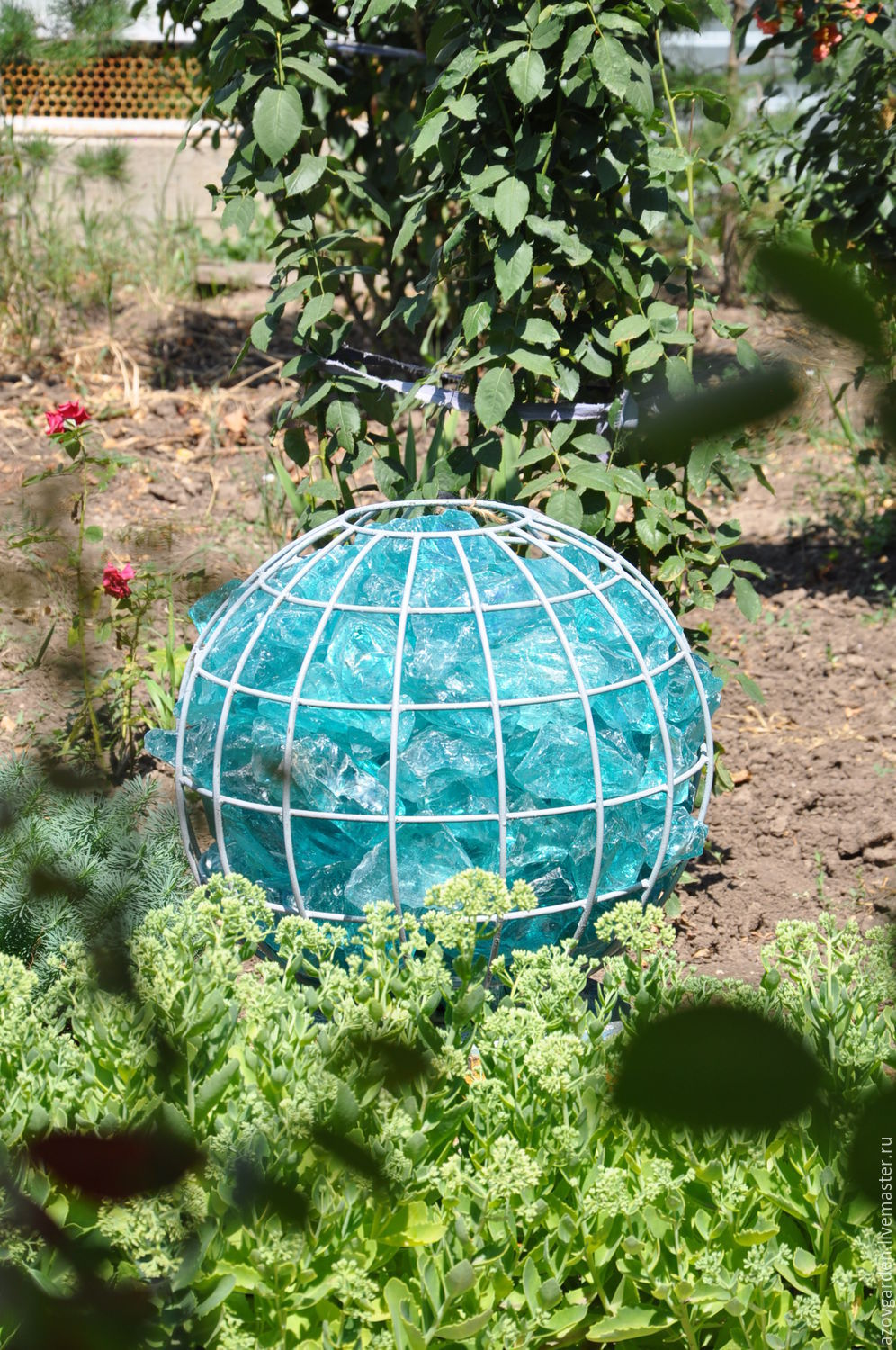 Ball-gabion for garden, ball of wire for decor, Christmas decorations, Azov,  Фото №1