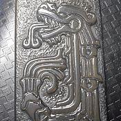 """Украшения ручной работы. Ярмарка Мастеров - ручная работа Кулон из обсидиана """"Кетцалькоатль"""" (Пернатый змей ацтеков). Handmade."""