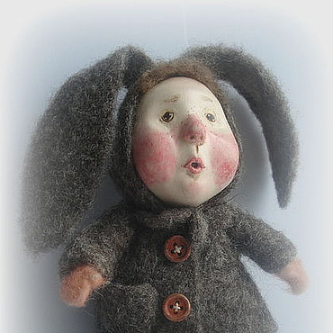 """Куклы и игрушки ручной работы. Ярмарка Мастеров - ручная работа шерсть, сухое валяние, паперклей, """"Первый снег"""". Handmade."""