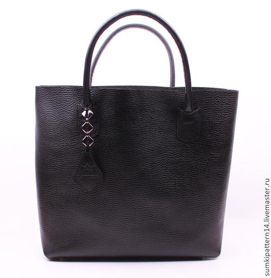 Женские сумки ручной работы. Ярмарка Мастеров - ручная работа. Купить Кожаная Дизайнерская сумка Pattern Vogue. Handmade. Однотонный