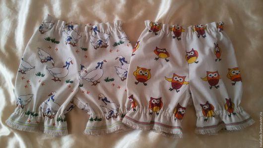 Одежда для девочек, ручной работы. Ярмарка Мастеров - ручная работа. Купить Льняные детские панталошки. Handmade. Комбинированный, панталоны, малышке
