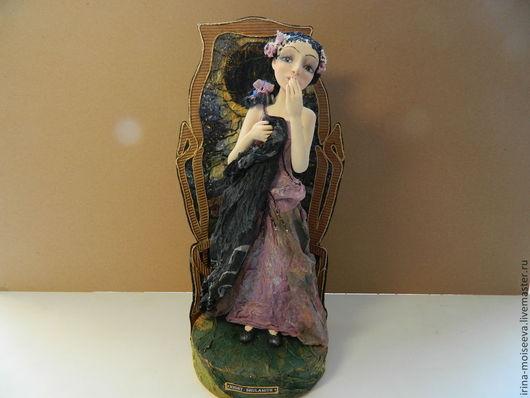 Коллекционные куклы ручной работы. Ярмарка Мастеров - ручная работа. Купить Ночь. Handmade. Тёмно-фиолетовый, кукла ручной работы