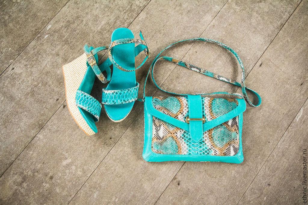 Handbags handmade. Livemaster - handmade. Buy Bag made of Python Valencia ( leather bag ).Bag