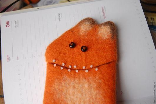 Для телефонов ручной работы. Ярмарка Мастеров - ручная работа. Купить Чехол для телефона планшета Рыжий Лис смешные звери. Handmade.