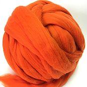 Материалы для творчества handmade. Livemaster - original item Australian Merino Pumpkin. Germany.19 MD. wool for felting. Handmade.