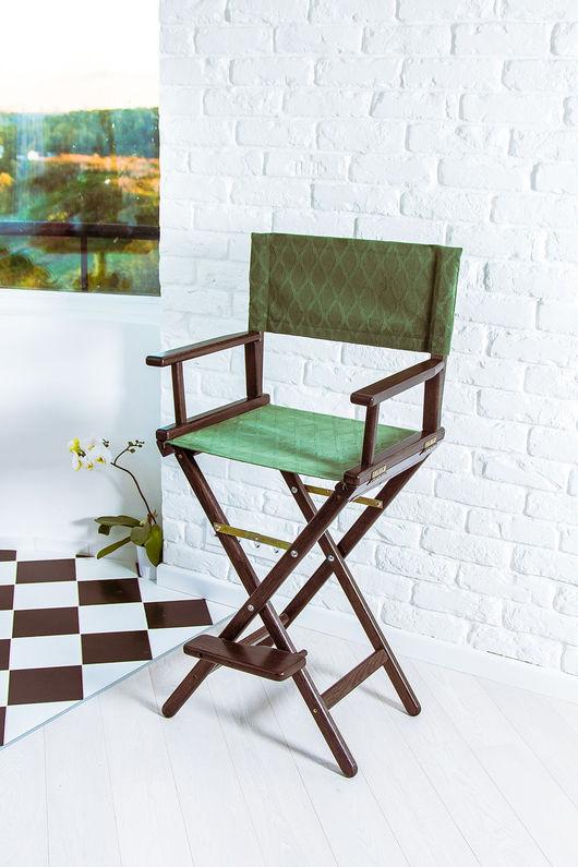 Мебель ручной работы. Ярмарка Мастеров - ручная работа. Купить Режиссерское кресло - черный изумруд. Handmade. Стул, режиссерское кресло