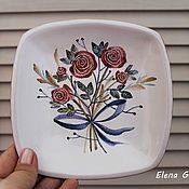 """Посуда ручной работы. Ярмарка Мастеров - ручная работа Декоративная тарелка """"Букет"""". Handmade."""