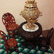 Для дома и интерьера ручной работы. Ярмарка Мастеров - ручная работа Мебель для кукол (стол и стульчик). Handmade.