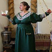 Одежда ручной работы. Ярмарка Мастеров - ручная работа Платье -  Изумрудное. Handmade.